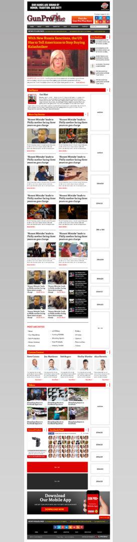 News and Media Website Design | Gun Pro Plus